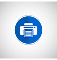 fax icon design printer document print vector image