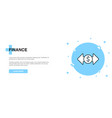 finance icon banner outline template concept vector image