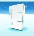 fridge inside north pole landscape vector image vector image