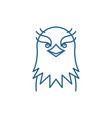 funny eagle line icon concept funny eagle flat vector image vector image