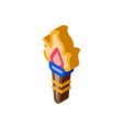 greek fire torch isometric icon vector image vector image