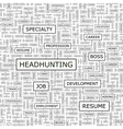 HEADHUNTING vector image