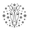 horse chinese zodiac sign vector image