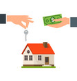 house buy rent real estate background loan vector image
