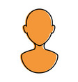 human profile isolated icon vector image vector image