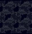 koi carps seamless texture vector image vector image