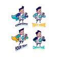 laundry mascot vector image vector image