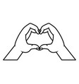 lgbt pride love vector image