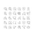 line icons cancer survivors day vector image vector image
