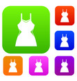 little dress set collection vector image vector image