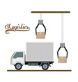 Logistics and delivery design vector image vector image