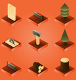 lumberjack color gradient isometric set vector image vector image