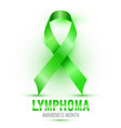 lymphoma cancer ribbon isolated on white vector image