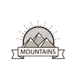 mountains line hipster logo icon badge vector image