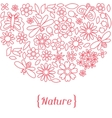 Natural card with beautiful flowers beetles and vector image vector image