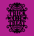 paper cut silhouette halloween trick or treat vector image vector image