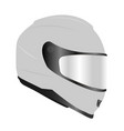 racing helmet vector image