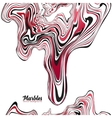 Red black and white colors wavy marble effect vector image vector image