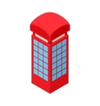 Red telephone box icon cartoon style vector image vector image