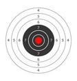 round target with red spot in middle for shooting vector image