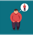 sad fat man flat vector image