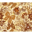 Seamless floral pattern with fantasy flowers and vector image
