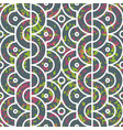 seamless geometric pattern with half circles vector image vector image
