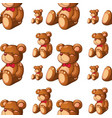 seamless pattern tile cartoon with bear vector image