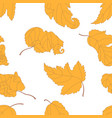 seamless pattern with yellow leaves vector image vector image