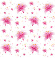 seamless pink lily wallpaper vector image