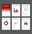 set of modern brochure flyer design templates vector image vector image