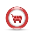 shiny shopping basket icon vector image vector image