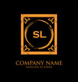 sl letter initial with royal luxury logo template vector image vector image