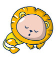 sleeping lion icon cartoon style vector image vector image