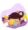 sleeping sloth cute animal cartoon character vector image vector image