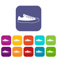 sneakers icons set vector image vector image