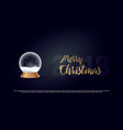 snow globe ball new year chrismas object isolated vector image