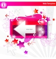 stylish colorful arrows background vector image