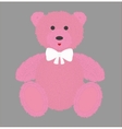 Teddy bear with pink fur vector image vector image