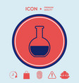 test-tube symbol icon vector image vector image