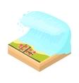 Tsunami wave icon cartoon style vector image vector image