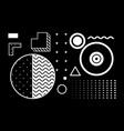 universal trend halftone geometric shapes set vector image vector image
