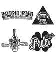 Vintage irish pub emblems vector image