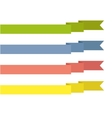 vintage ribbon banner vector image vector image