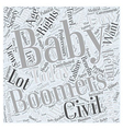 wants of baby boomers Word Cloud Concept vector image vector image