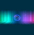 wide gaming background with glowing lines vector image vector image