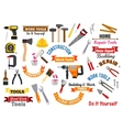 Work tools icons Repair construction signs set vector image vector image