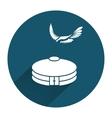 Yurta jurt eagle icon Mongolian kazakh house vector image