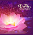 diwali festival of light background vector image