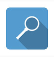 magnifying glass flat icon vector image